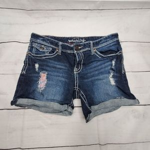 Maurices Original Distressed Jean Shorts